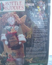 "NIP 1996 Dimensions Bottle Buddies Kit ""Wishful Angel"" Craft kitsch Chri... - $14.95"