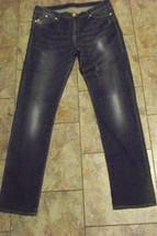 wpomens rock & republic berlin faded dark wash denim jeans size 14 m 33 ... - $22.76