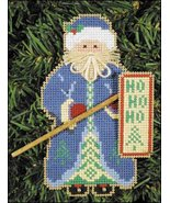 Ho Ho Ho Santa Olde Time Santa Ornament kit christmas perforated paper  - $5.40