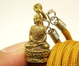 LORD BUDDHA BLESSING DHARMA POWERFUL LUCKY AMULET SUCCESS PENDANT NECKLA... - $16.62