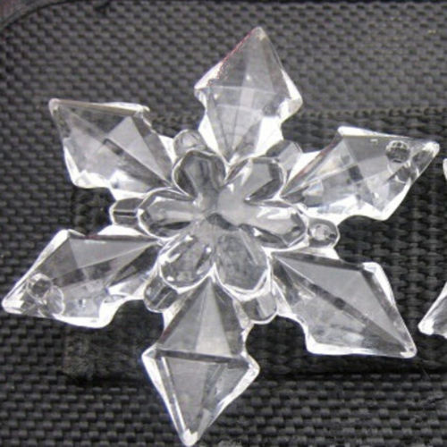 20Pcs Clear Sew Acrylic Crystal Snowflakes Sewing XMAS Wedding Table Decoration - $8.70