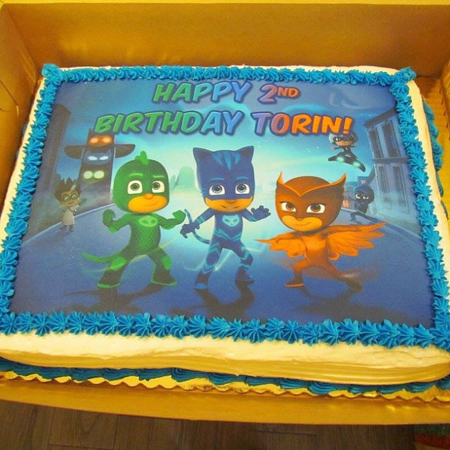 PJ Mask Cake topper edible decal transfer Birthday picture ...