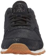 Reebok Women's CL LTHR Clean Exotic Print Track Shoe, image 2