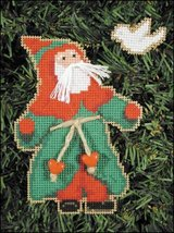 Dove Santa Olde Time Santa Ornament kit christmas perforated paper  - $5.40