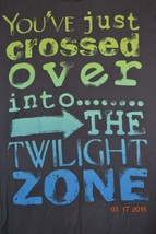 """Walt Disney Parks T-Shirt  """"You've just crossed over... Twilight Zone"""" Small - $20.15"""