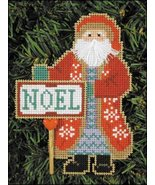 Noel Santa Olde Time Santa Ornament kit christmas perforated paper  - $5.40