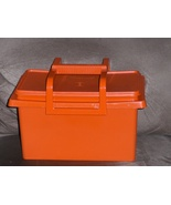 Tupperware Carry All Craft Tote Orange - $24.97