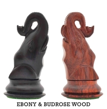 "Seirawan (Sharper) Elephant Chess Variant Kit in Ebony/BudRose wood - 3""  PW035D - $44.00"