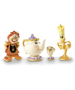 Non Metal Disney Showcase Lumiere, Mrs. Potts, Chip And Cogsworth Figuri... - $44.52