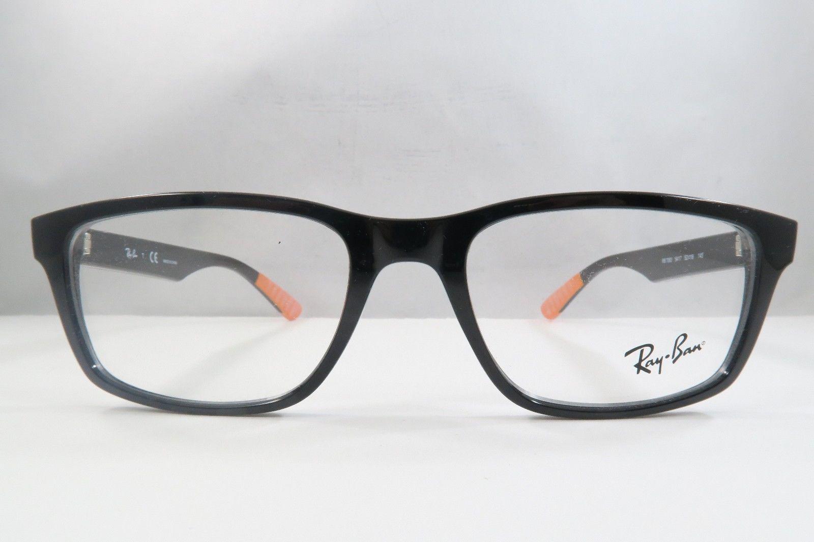 3d92961c6bc Ray-Ban RB 7063 5417 Shiny Black   Orange and 50 similar items. S l1600