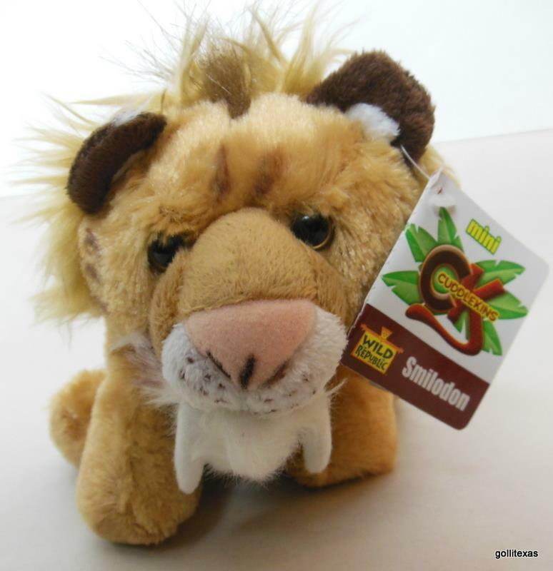 "Primary image for Cuddlkins Smilodon Saber Tooth Tiger  8"" New with Tags Wild Republic"