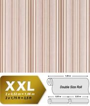 Elegance textured stripe non-woven wallpaper wall EDEM 692-93 XXL cream ... - $22.95