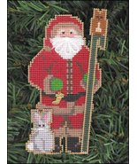 Woodlands Santa Olde Time Santa Ornament kit christmas perforated paper  - $5.40