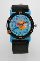Timex Watch Women/Youth Light Blue Plastic Black Nylon Orange Fish Quartz - £14.31 GBP