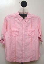 Cubavra Pink Stripe Slim Fit Short Sleeve Casual Shirt - XXL - $19.95