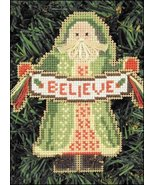 Believe Santa Olde Time Santa Ornament kit christmas perforated paper  - $5.40