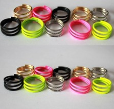 Unisex Trendy Spiral Shaped Ring(Color:Black/Gold /Green  /Pink  /Silver  ) - $5.99
