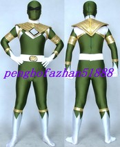 Amazing Superhero Power Ranger Suit Catsuit Costumes Halloween Cosplay Suit S228 - $55.99