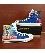 Anime Sailor Moon Converse All Star Hand Painted Shoes Men Women's Sneakers - $155.00