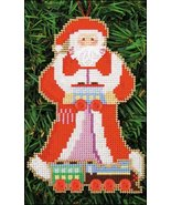 Toy Train Santa Olde Time Santa Ornament kit christmas perforated paper  - $5.40