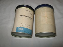 Rx , Pharmacy , Pharmaceutical Powder , Tin Cardboard Container , Lot of 2 - $19.71