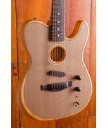 Custom Shop Acoustasonic Tele Sonic Grey Electric Guitar Polyester Satin... - $727.64+
