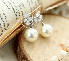 Authentic CHANEL Small Crystal CC LOGO PEARL DROP PIERCE EARRINGS Classic  image 2