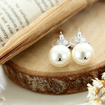 Authentic CHANEL Small Crystal CC LOGO PEARL DROP PIERCE EARRINGS Classic  image 6