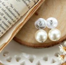 Authentic CHANEL Small Crystal CC LOGO PEARL DROP PIERCE EARRINGS Classic  image 7