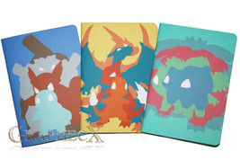 Fan-made Pokemon Charmander Squirtle Bulbasaur inspired personalized jou... - $26.51