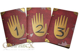 Fan-made Journal 3 gravity falls cosplay inspired personalized notebook - $26.51