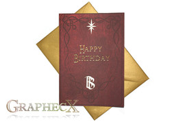 Fan-made Bilbo's Book inspired personalized birthday card - $5.90