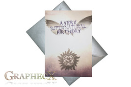 Supernatural inspired personalized birthday card - $5.90