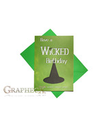 Wicked inspired personalized birthday card - $5.90