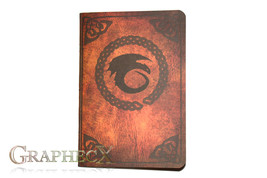 Fan-made Book of Dragons inspired personalized journal notebook - $10.60