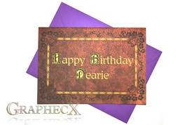 Once Upon a Time inspired personalized birthday card - $5.90