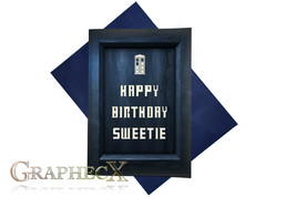 Doctor Who TARDIS inspired personalized card - $5.90