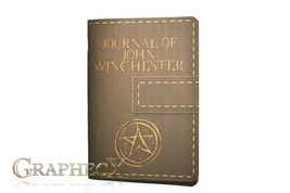 Supernatural John Winchester journal inspired personalized notebook - $10.60