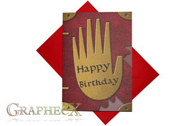 Fan-made Journal 3 Gravity Falls inspired personalized birthday card - $5.90