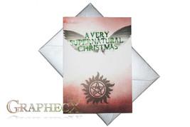 Fan-made Supernatural inspired Christmas Holidays card - $3.53
