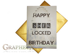 Sherlock inspired personalized card - $5.90