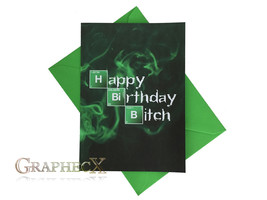 Fan-made Breaking Bad personalized birthday card - $5.90
