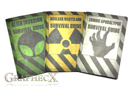 Survival Guides: Zombie Apocalypse, Nuclear Wasteland, Alien Invasion. P... - $26.51