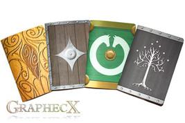 Fan-made Gondor, Rohan, Elven, Dwarf shield inspired personalized journa... - $37.12