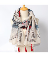 British Flag Printed Long Scarves And Shawls Personalized Character Pattern Voi^ - $33.45