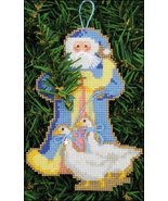 Santa Of The Woods Santa Olde Time Santa Ornament kit christmas perforat... - $5.40