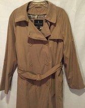 London Fog Trench Coat Limited Edition  Zip Out Liner Womens 12 Reg Tan ... - $29.69