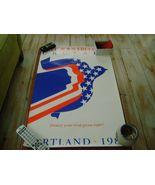 Scientology Religious Freedom Portland Poster1985 L Ron Hubbard Dianetics - $115.00