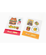 LINE Friends BROWN Burger & Chips Iron On Sticker Clothing Eco Bag Fabri... - $10.83+