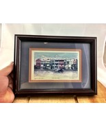 Framed Rainbow Row Charleston South Carolina Pa... - $58.04